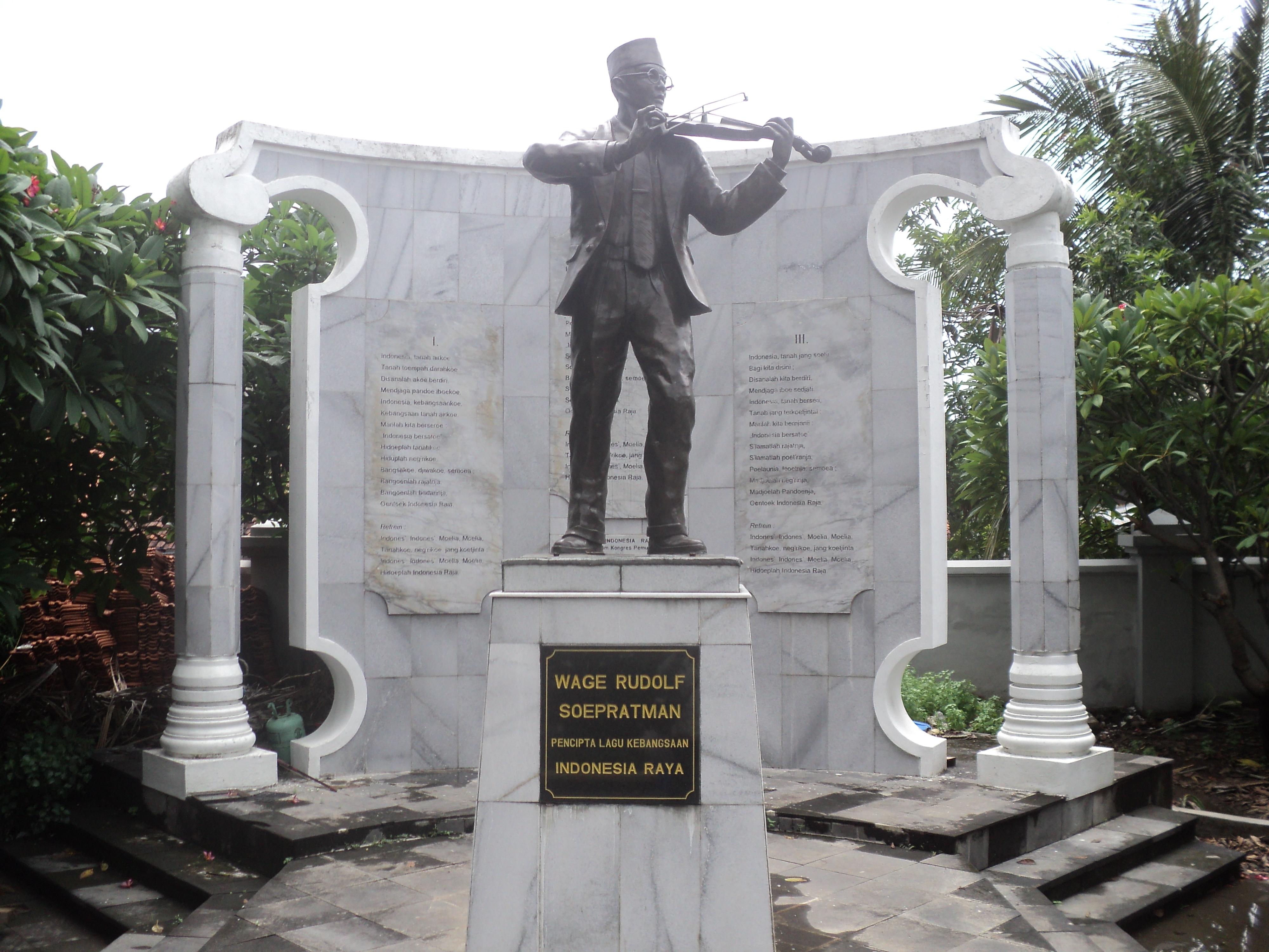 Monumen Wr Supratman Surabaya Wisata Museum Soepratman Kota
