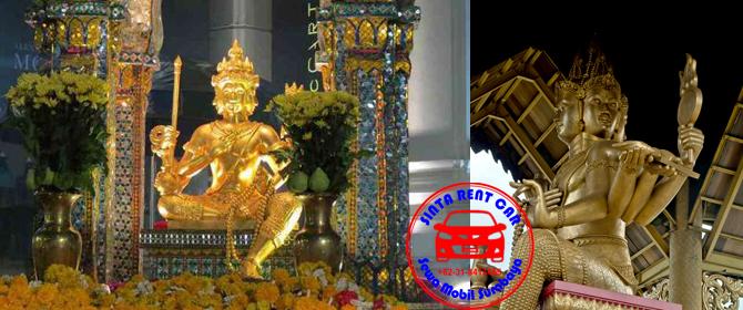 Info Obyek Wisata Surabaya Patung Budha Empat Wajah Mobil Sewa