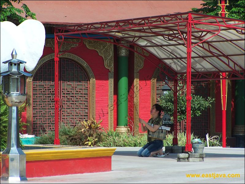 Kota Surabaya Budha Empat Wajah Faces Buddha Patung Terletak Salah