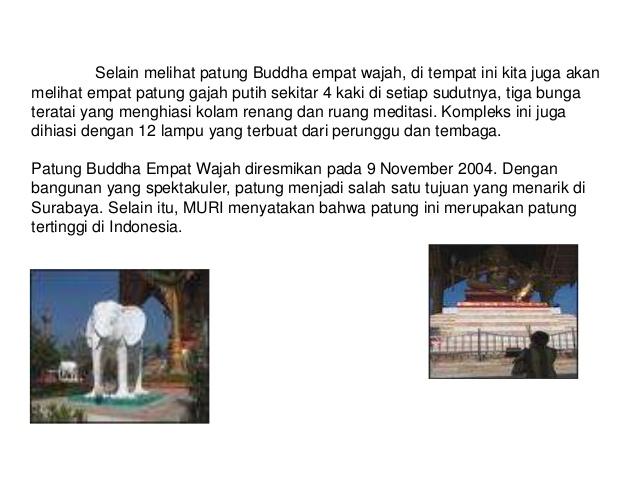 Presentasi Wisata Surabaya 7 Melihat Patung Buddha Empat Wajah Kota
