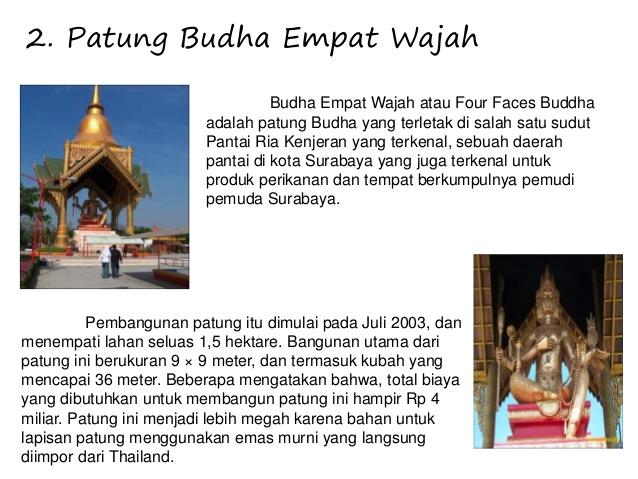 Presentasi Wisata Surabaya Gambar Monjaya 5 2 Patung Budha Empat