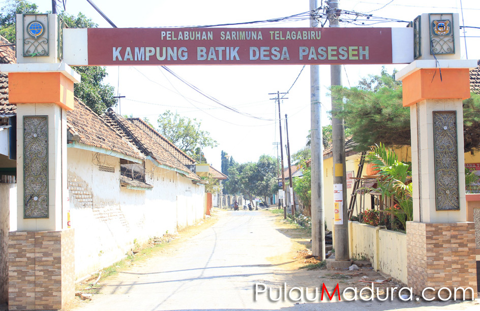 Sentra Kampung Batik Tanjung Bumi Desa Paseseh Bangkalan Gapura Wisata