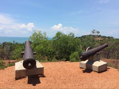 Kementerian Pariwisata Benteng Bukit Kursi Saksi Sejarah Pulau Meriam Foto