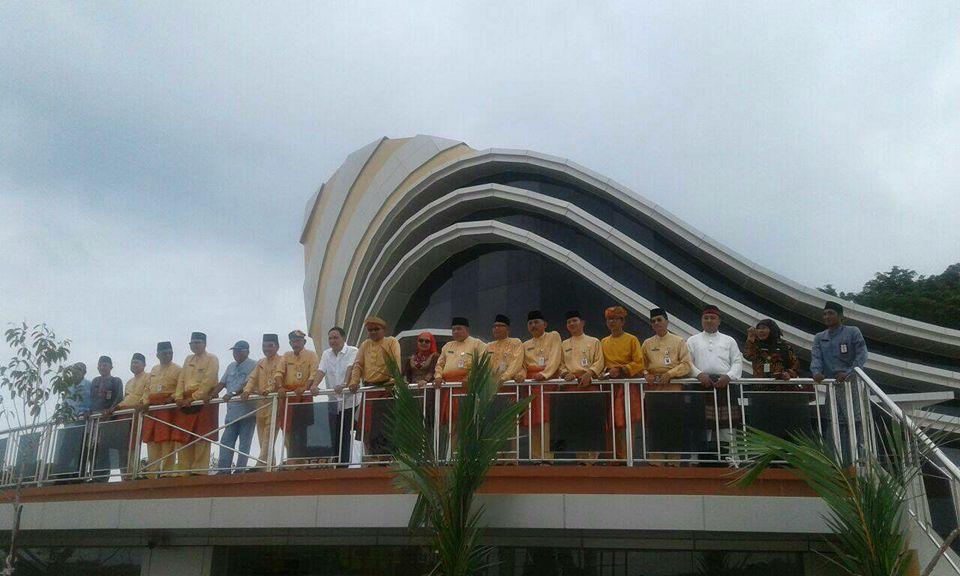 Diresmikan Pagar Bangunan Gedung Gonggong Dibuka Wako Kota Tanjungpinang