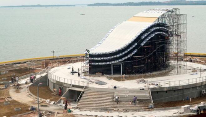 Gedung Gonggong Destinasi Wisata Tanjungpinang Times Indonesia Tepi Laut Design