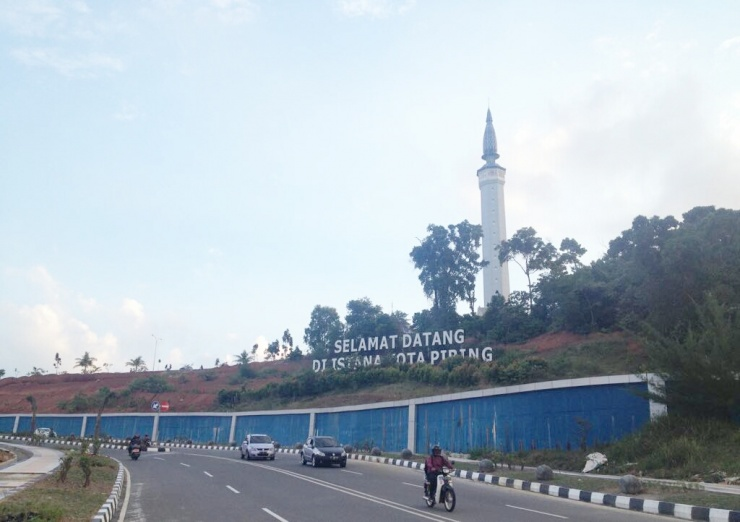 Lihat Kota Tanjungpinang Naiklah Menara Harian Kepri Masjid Dompak Terlihat