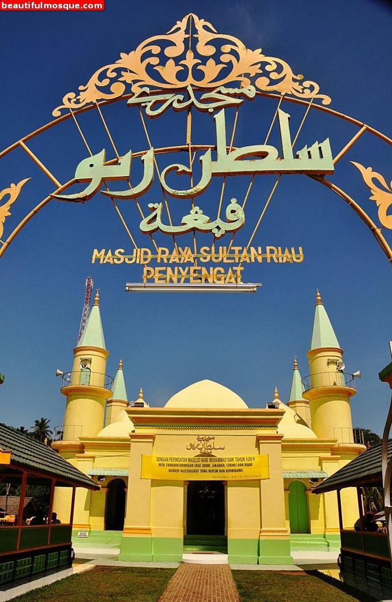 Beautiful Mosques Pictures Gambar Masjid Sultan Riau Mosque Islamic Centre