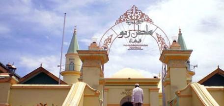 Masjid Raya Sultan Riau Pulau Penyengat Tanjungpinang Antara Kota