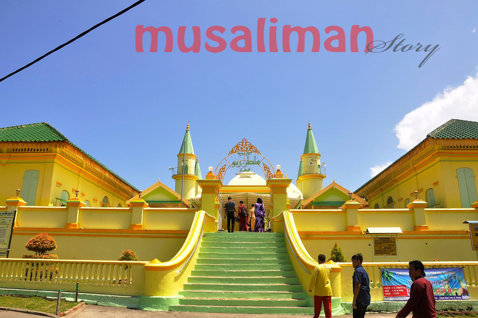 Musaliman Story Sejarah Singkat Masjid Penyengat Raya Sultan Tanjungpinang Kepulauan