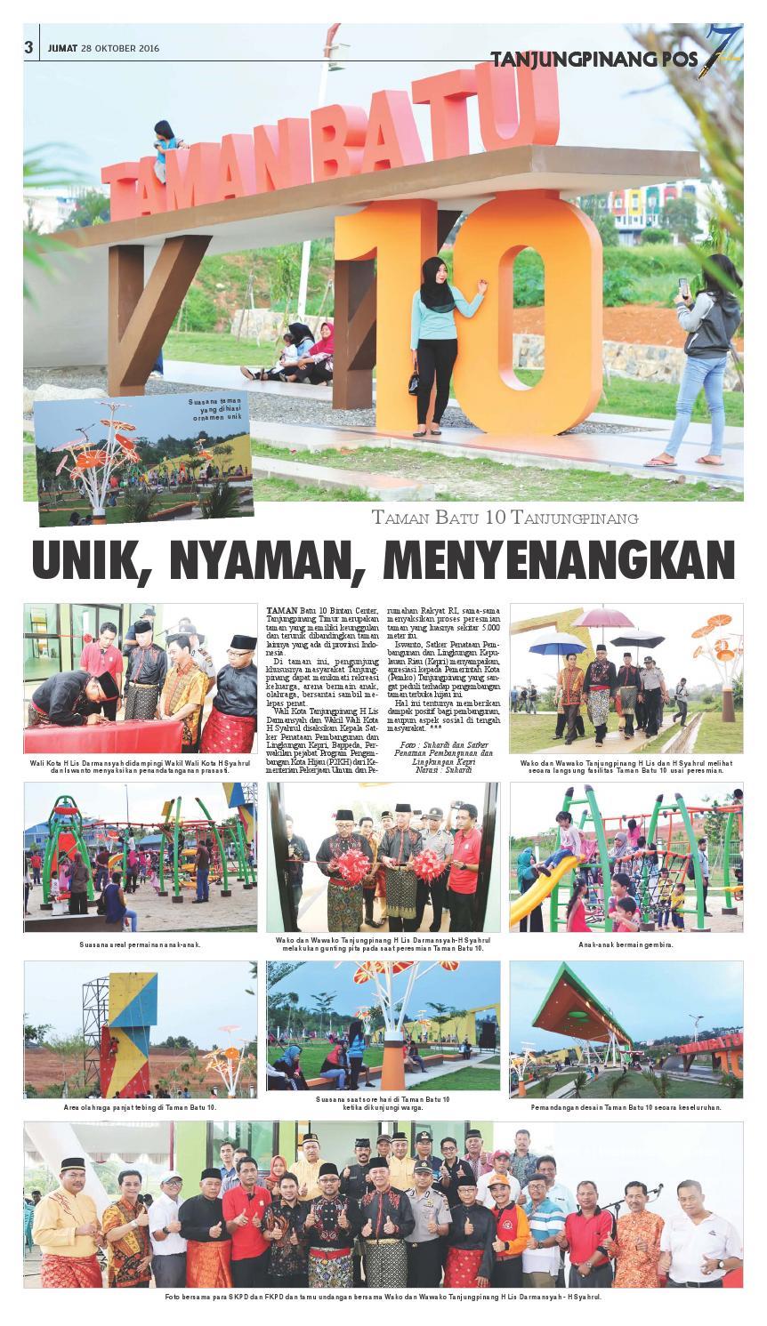 Tanjungpinang Pos 28 Oktober 2016 Tanjungpinangpos Issuu Taman Batu 10