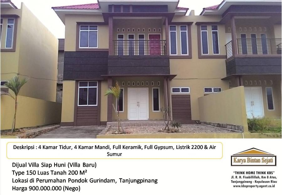 Villa Dijual 09 001 Kbs Siap Huni Lokasi Pondok Rumah