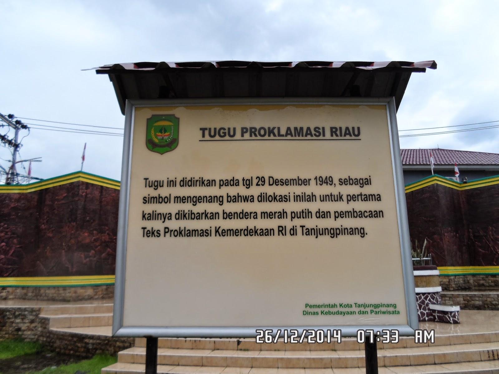 Adiza Saidi Satu Pagi Sore Tanjung Pinang Masjid Raya Al