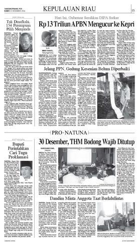 Tanjungpinang Pos 15 Desember 2016 Tanjungpinangpos Issuu Kamis Tugu Proklamasi