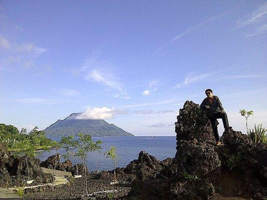 Batu Angus Beautiful Mt Hiri Sea Ternate Indonesia Kota