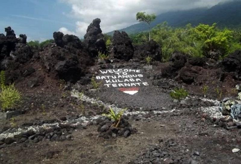 Batu Angus Hasil Muntahan Gunung Gamalama Ternate Selamat Datang Kulaba