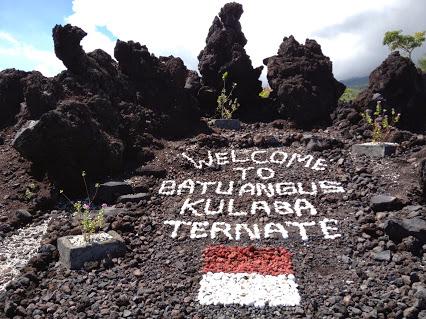 Batu Angus Ternate North Maluku Tourism Pile Leftover Lava Eruption