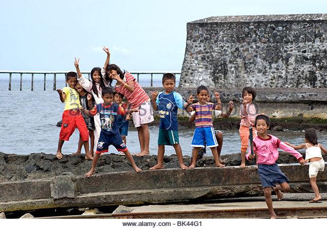 Kids Benteng Kalamata Stock Photos Kota Ternate Image