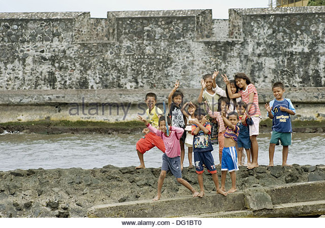 Kids Benteng Kalamata Stock Photos Ternate Indonesia Image Kota