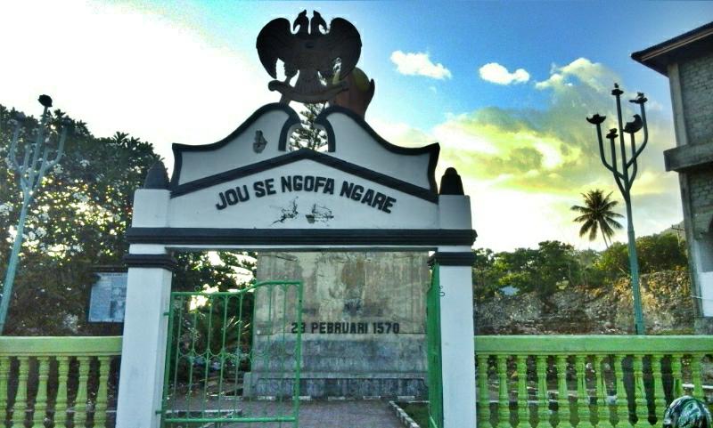 Perkici Kie Raha Benteng Kastela Peninggalan Portugis Kota Ternate Pintu