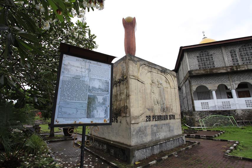 Benteng Kastela Bangunan Bersejarah Ternate Maluku Utara Mempunyai Kaitan Erat