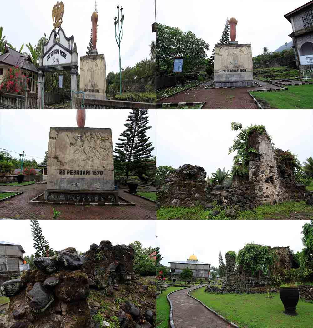 Benteng Kastela Bangunan Bersejarah Ternate Maluku Utara Suasana Kota