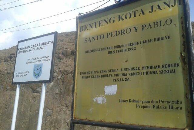 Benteng Kota Janji Maluku Utara Kastela Ternate
