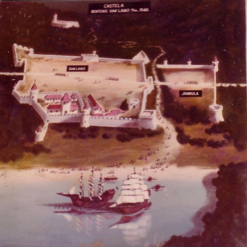 Benteng Portugis Terbesar Asia Tenggara Balai Pelestarian Cagar Ilustrasi Kastela