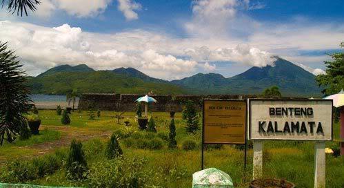 Fort Kalamata Santa Lucia Kayumerah Kota Ternate Benteng Kastela