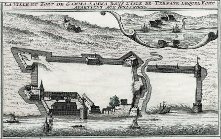 Fort Kastela Wikipedia Benteng Kota Ternate