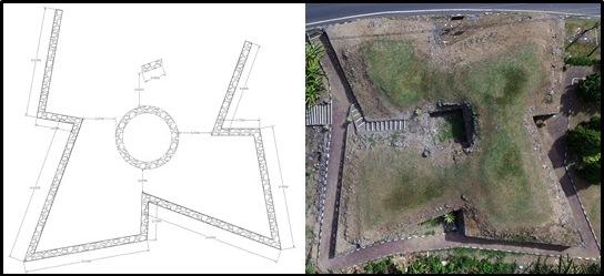 3 Denah Benteng Saboga Kota Janji Balai Pelestarian Cagar Ternate