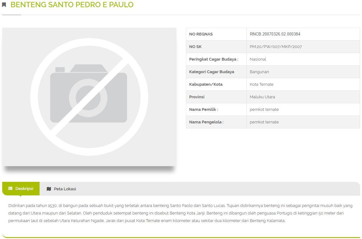 Budaya Kita Benteng Santo Pedro Paulo Kota Janji Ternate