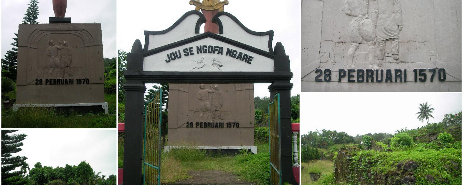 Dentum Sejarah Benteng Ternate Perahu Kayu Kota Janji