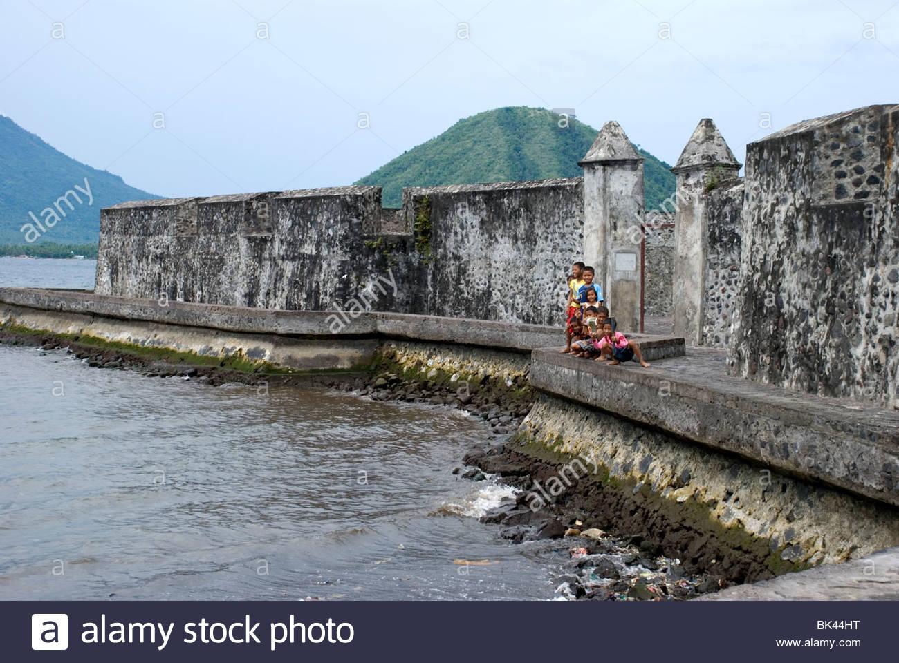 Benteng Kalamata Indonesia View Kota Ternate Stock Photo Royalty Free
