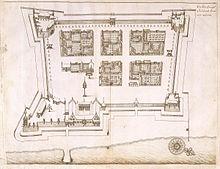 Benteng Oranje Wikipedia Bahasa Indonesia Ensiklopedia Bebas Denah Tertanggal 1651