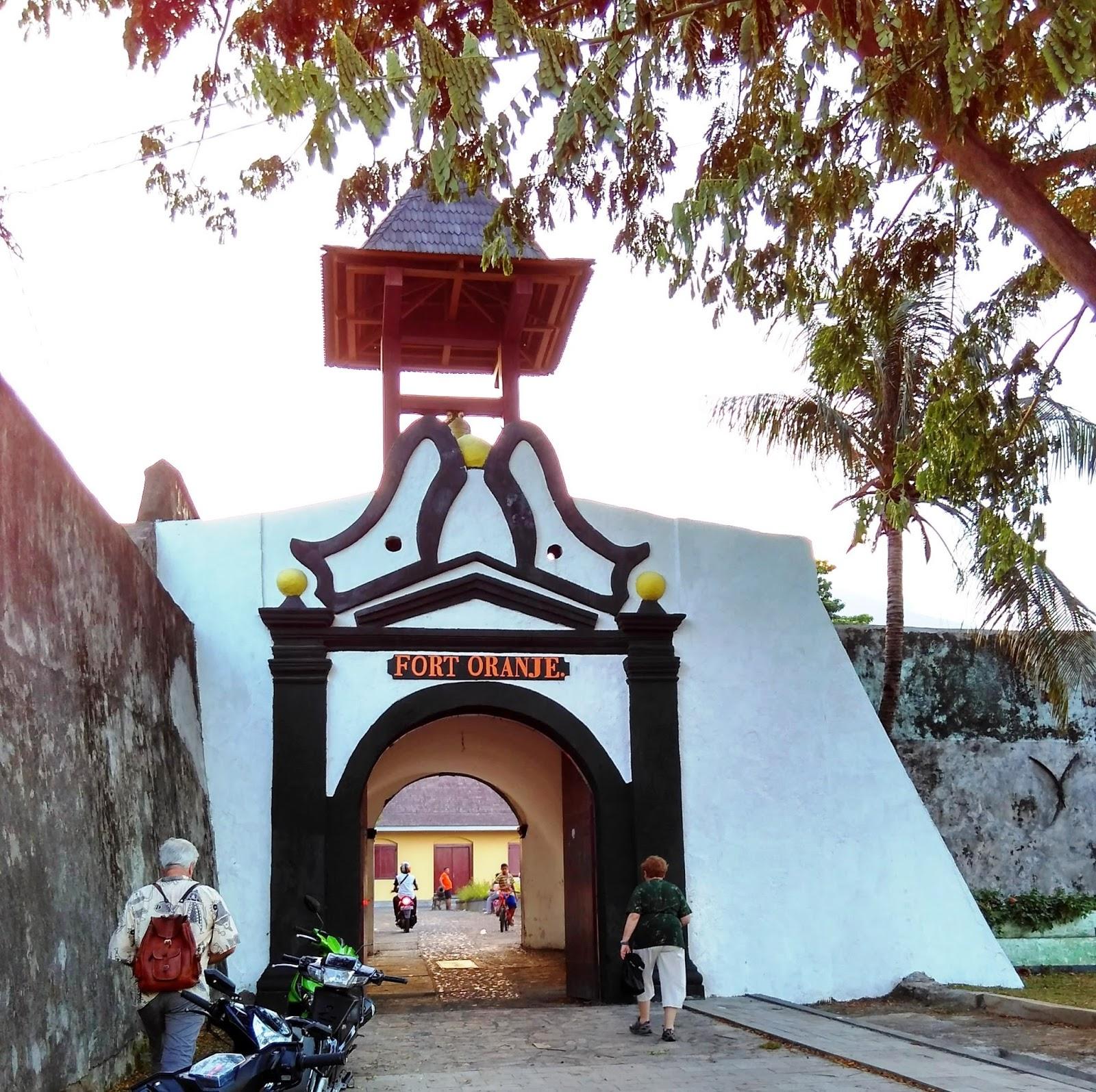 Benteng Oranye Indonesia View Tolukko Kota Ternate
