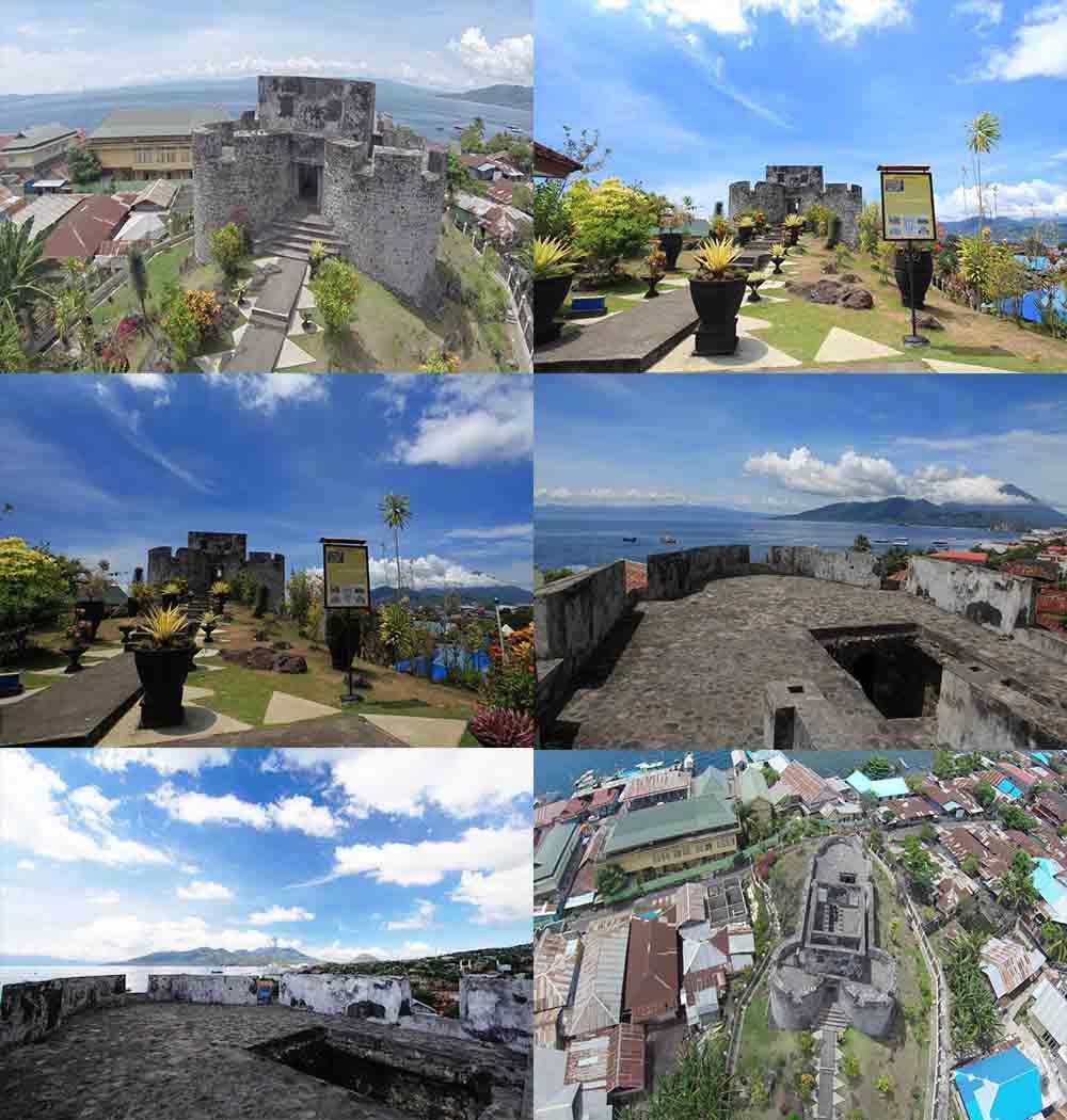 Benteng Tolukko Bangunan Bersejarah Ternate Maluku Utara Suasana Kota