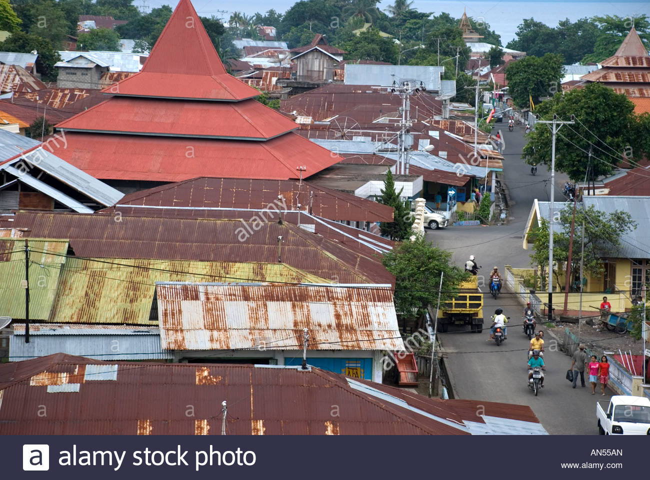 Benteng Tolukko Indonesia View Kota Ternate Town Maluku