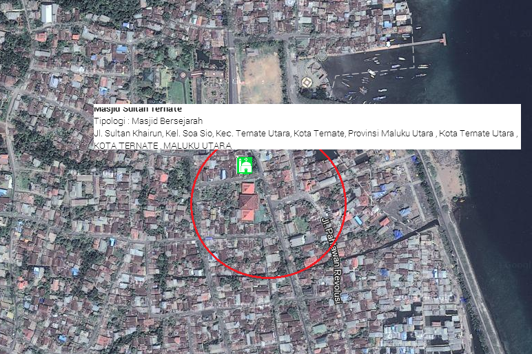 Jalan Masjid Sultan Ternate Indonesia Menjadi Satu Kota Otonom Sejak