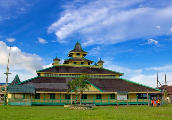 Masjid Kerajaan Indonesia Jami Sultan Syarif Abdurrahman Kesultanan Pontianak Kota