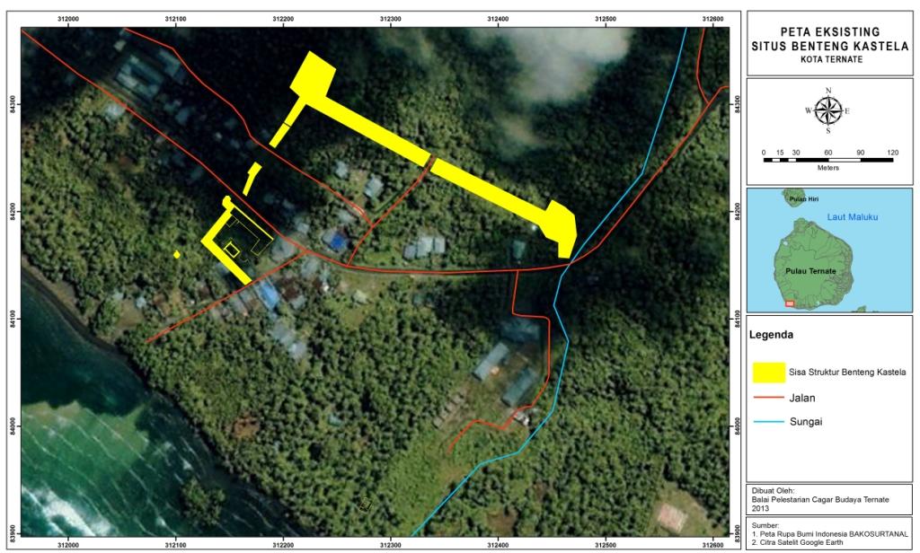Benteng Portugis Terbesar Asia Tenggara Balai Pelestarian Cagar Kastelaeksisting Peta