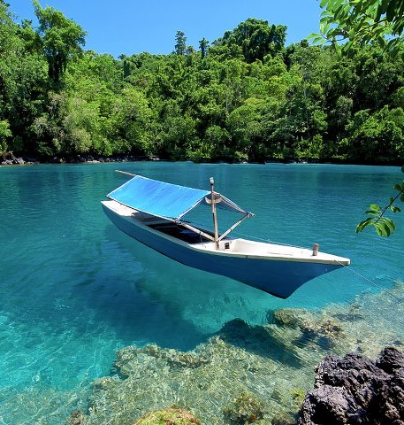 Objek Wisata Alam Mengenal Ternate Pantai Sulamadaha Meski Tidak Berpasir