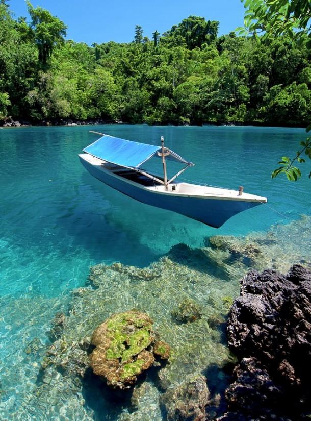 Beautiful Clear Waters Ternate Island Indonesia Travel Kota