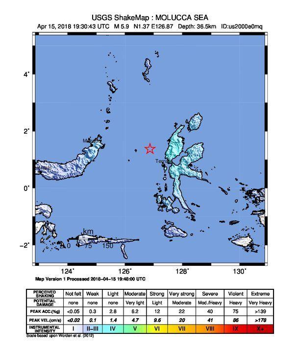 Earthquake Info M5 9 Sun 15 Apr 19 30 43