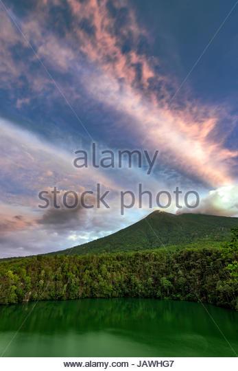 Ternate Island Indonesia Stock Photos Mount Gamalama Crater Lake Tolire