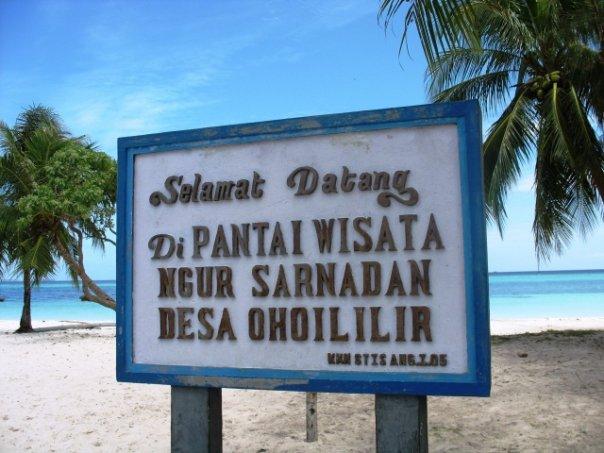218 Obyek Wisata Pantai Ngur Sarnadan Pasir Panjang Kai Jarak