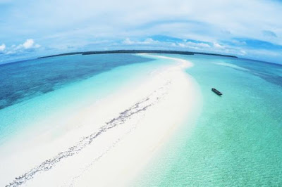 Eksotisme Alam Kota Tual Maluku Tenggara Laut Pantai Pasir Panjang