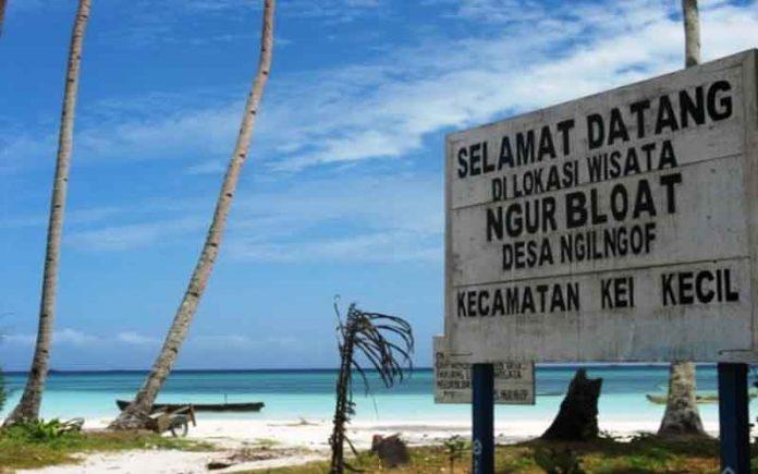 Ngurbloat Pantai Predikat Pasir Terhalus Dunia Panjang Kota Tual