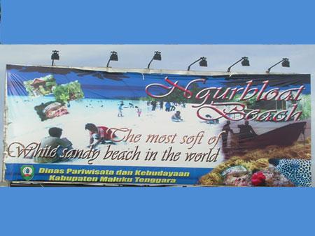 Pantai Ngurbloat Pasir Panjang Tual Maluku Tenggara Putih Halus Dunia