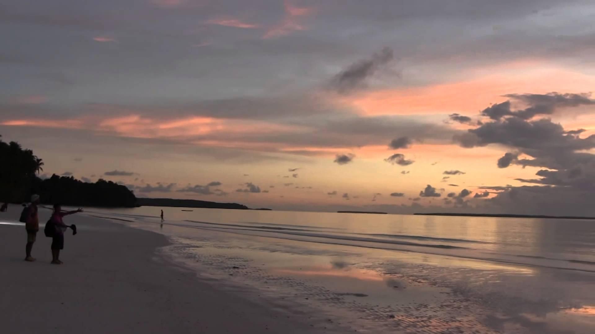 Pasir Panjang Pantai Ngurbloat Kepulauan Kai Maluku Indonesia Kota Tual