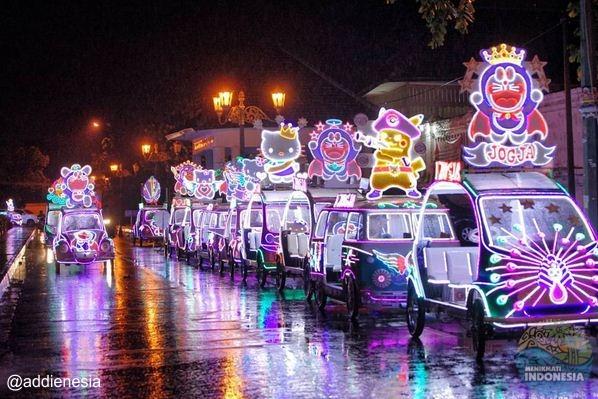 3 Aktifitas Seru Malam Hari Alun Kidul Yogyakarta Mobil Hias